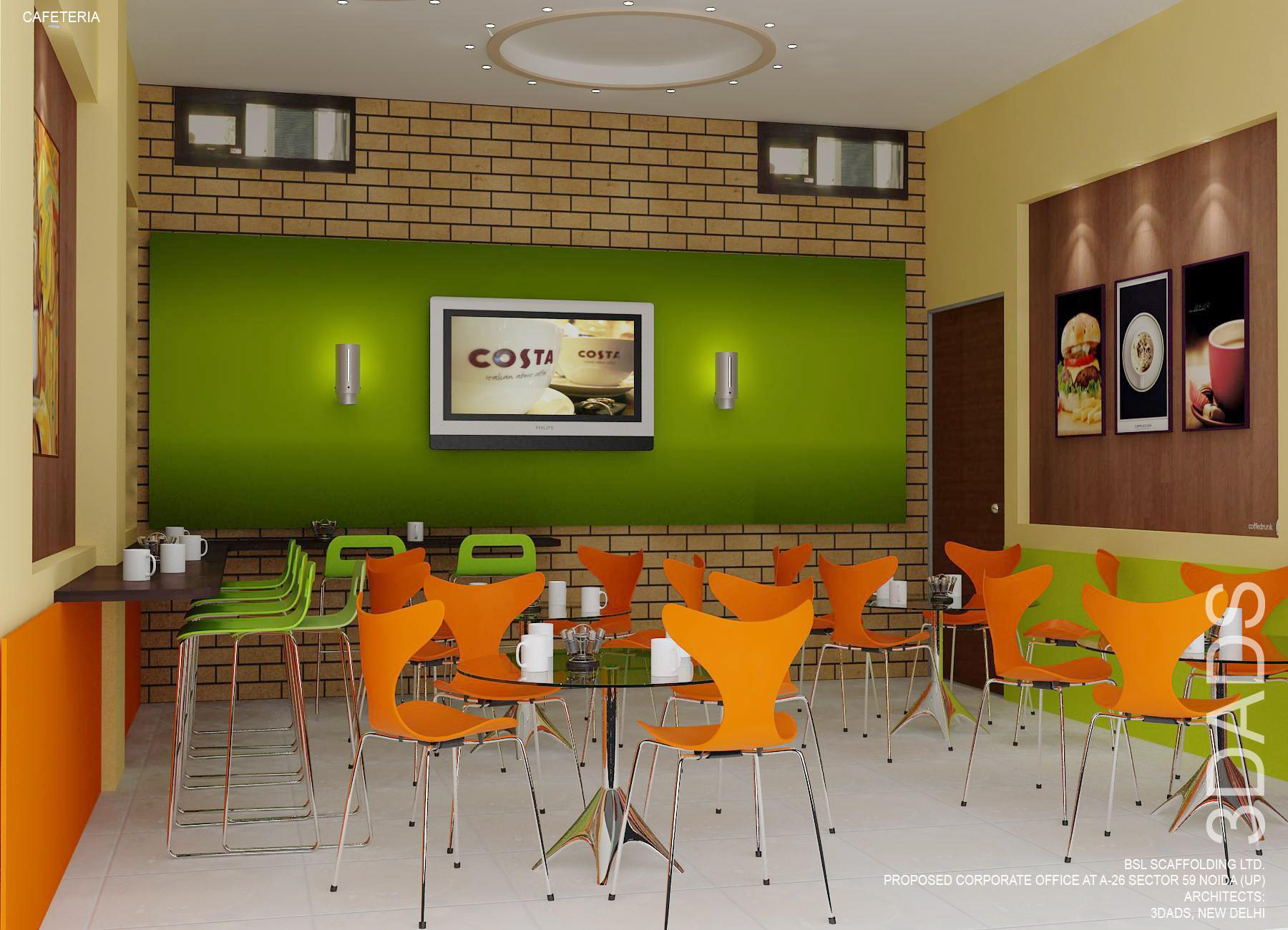 Office Cafeteria Interior design