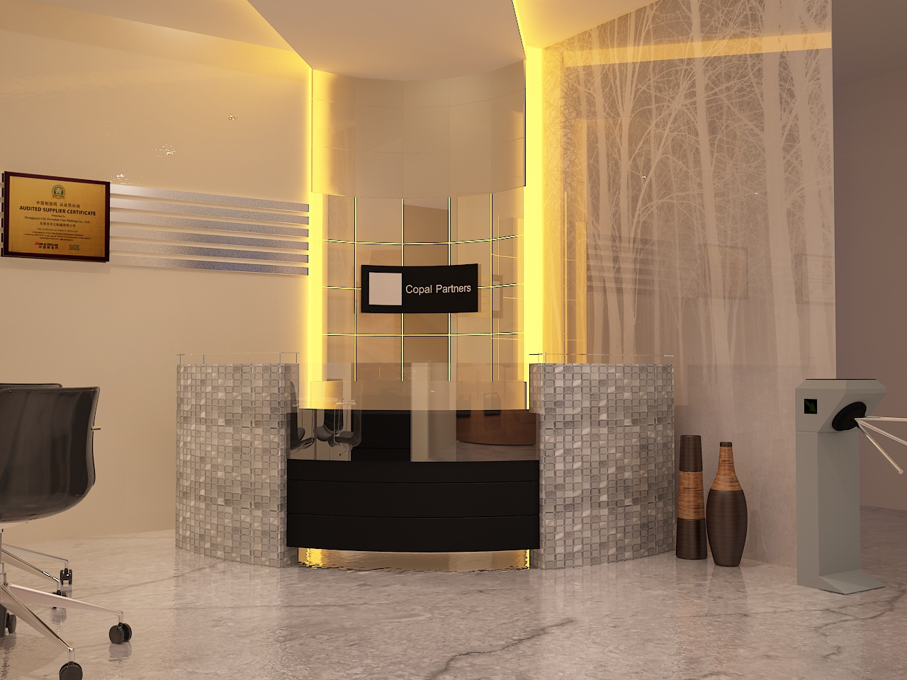 modern office reception design