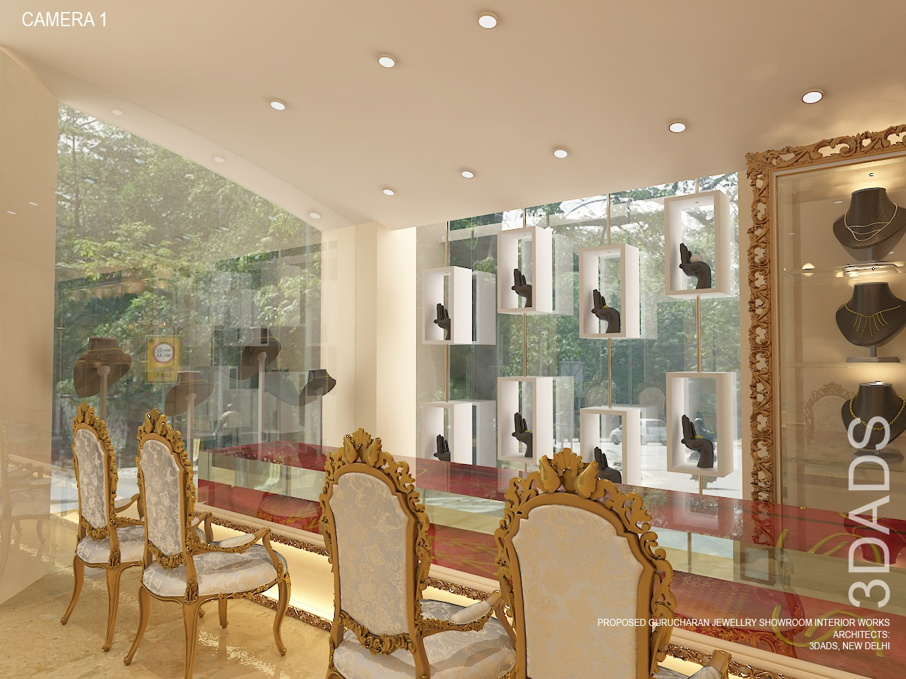 Modern Jewellery Showroom & Store Interior Design