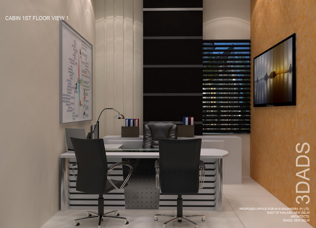 Modern office Director cabin interior design