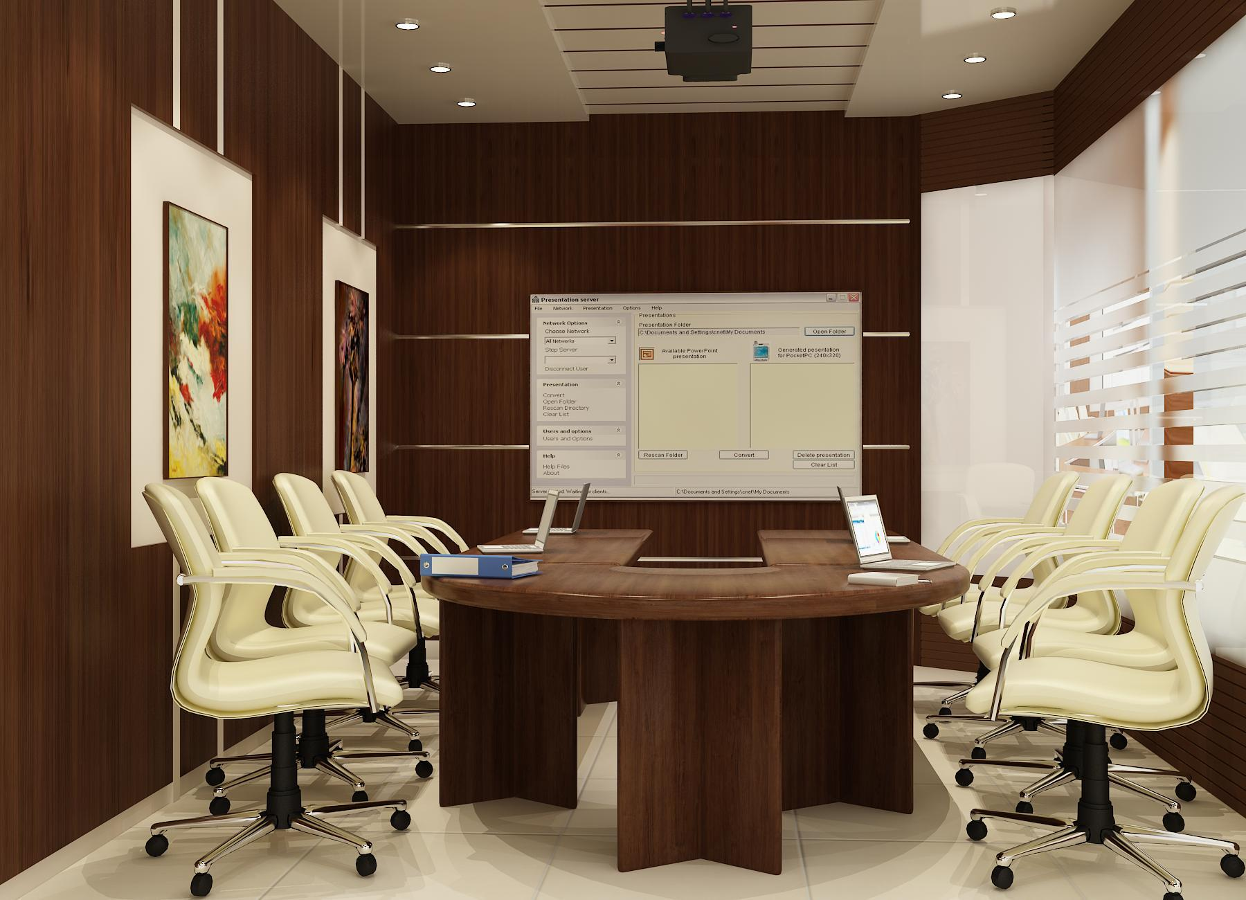 Modern office board room interior design