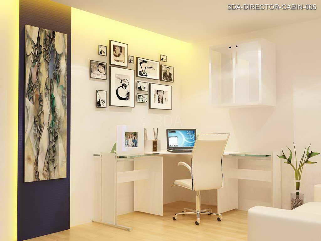 3da office director cabin interior design for Director office room design