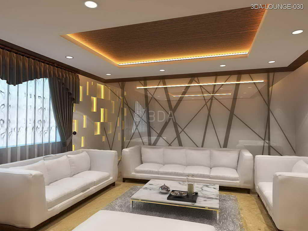 3da office lounge interior design for Latest drawing room interiors