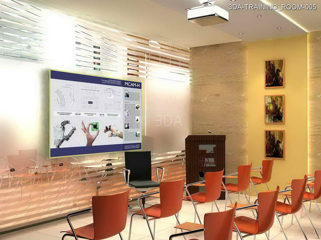 3da training room interior design for Interior design training