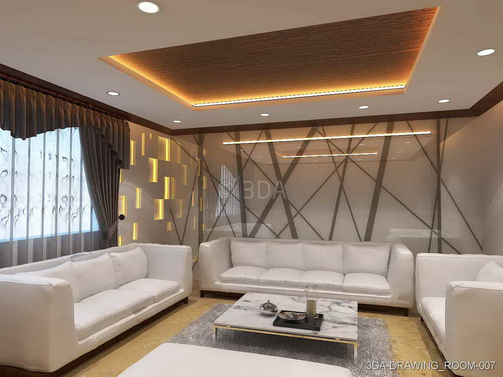 Delicieux 3DA Drawing Room Interiors Design