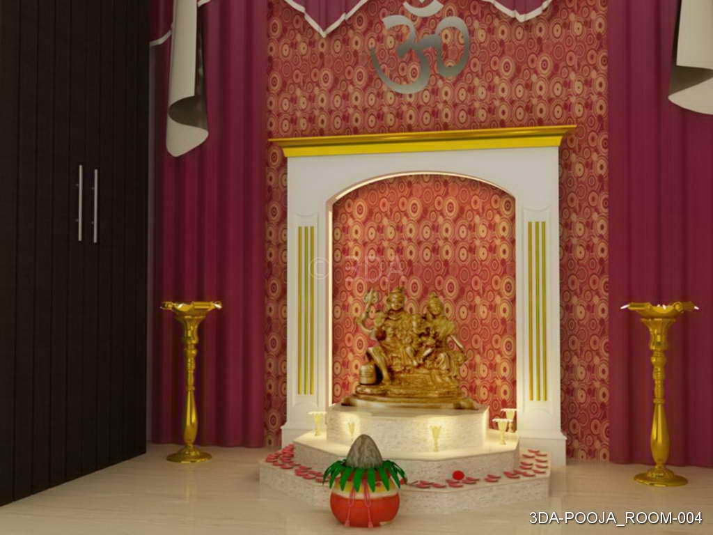 3DA Best Pooja Room Interior Decorators in Delhi and Best