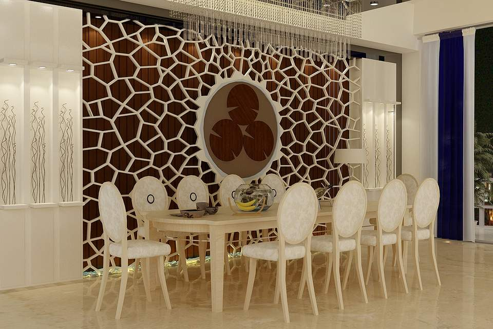 Abstract Modern Dining Room