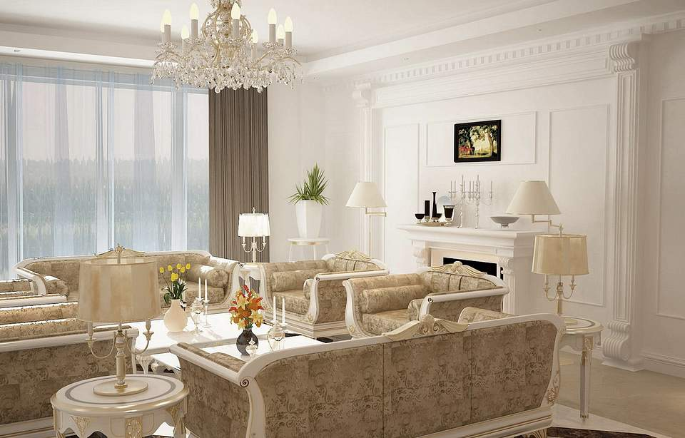 3da best gallery for office and residence - Modern victorian living room ...