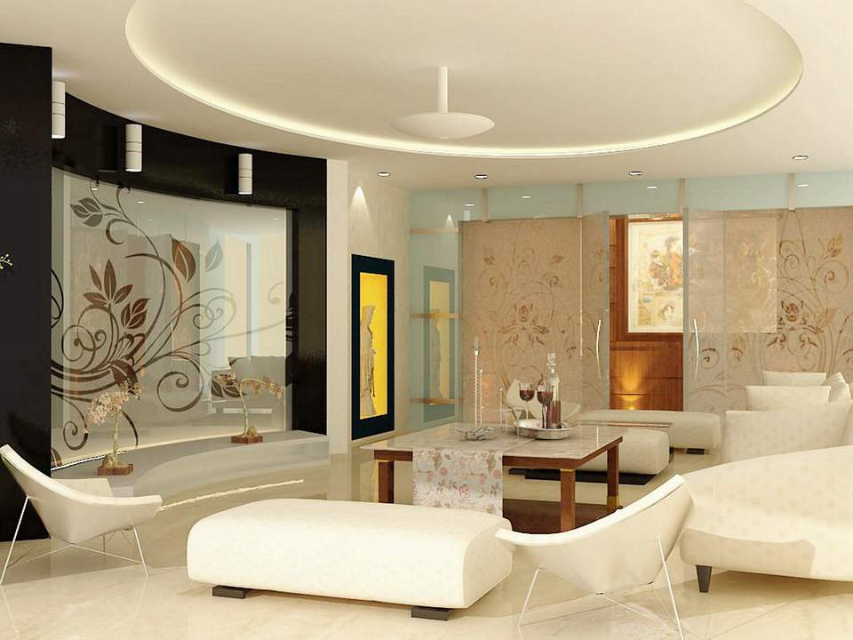 3da best gallery for office and residence for Drawing room interior design photos